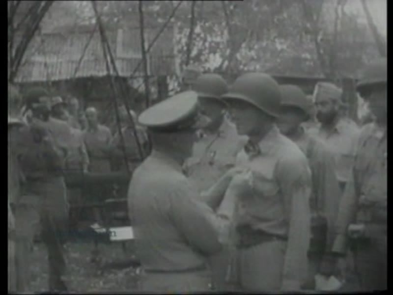 Japanese POWs, marines are decorated, US Army arrive to take over. Guadalcanal 1942