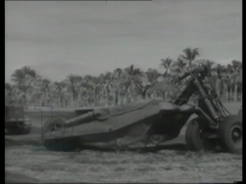 The building of Henderson Field, US airfield on Guadalcanal, 1942