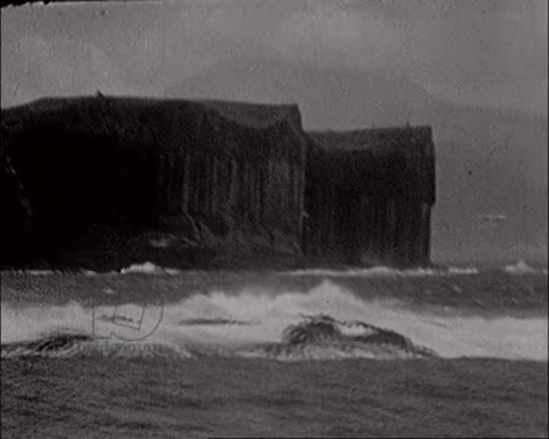 Island of Staffa and Fingal's Cave, Scotland 1930s