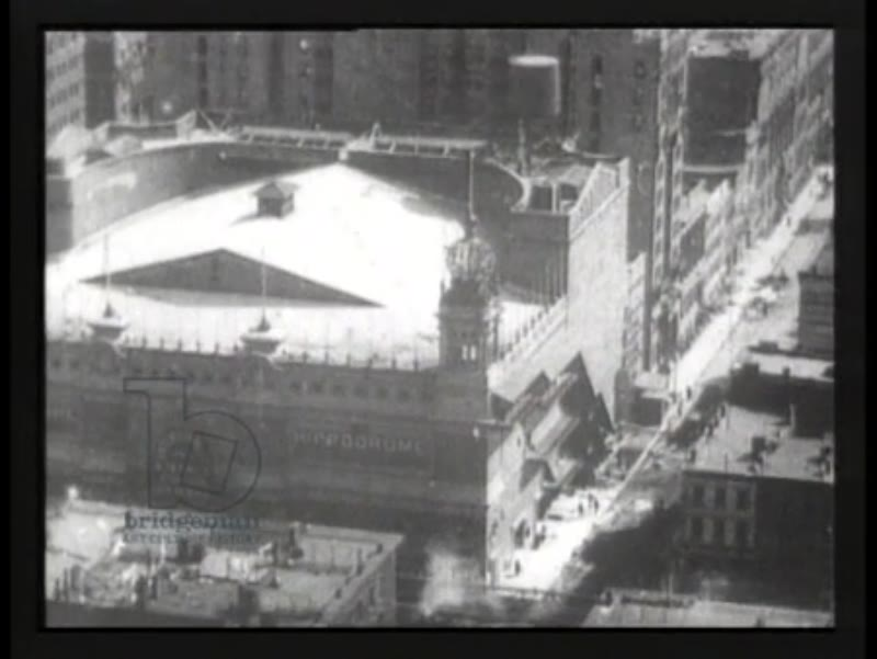 Panoramic views of New York City from the Times Building in 1905 - early Thomas Edison