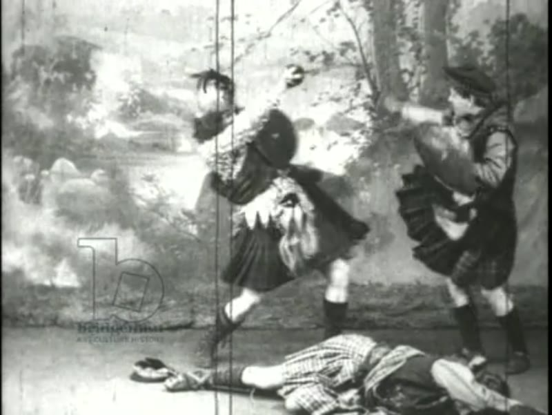 A Scottish combat with swords - American Vaudeville act, 1907