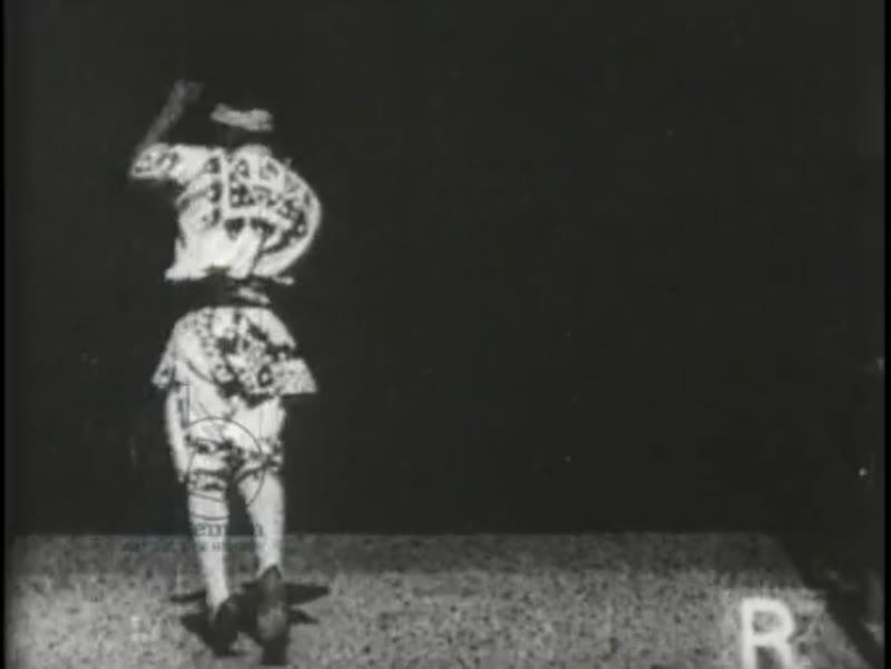 Cartwheeling man - early Edison film, 1894
