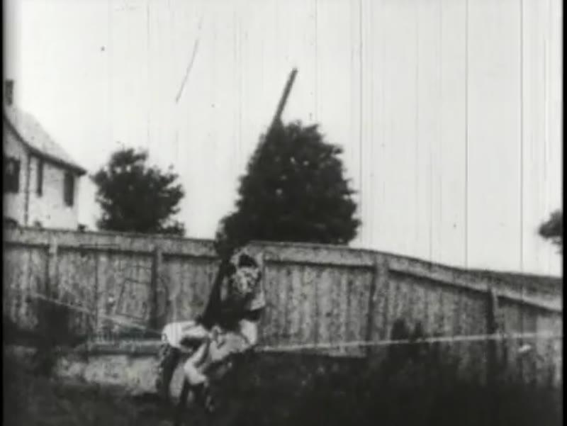 Juan Caicedo, Venezuelan rope and slack wire walker - early Edison film, 1894