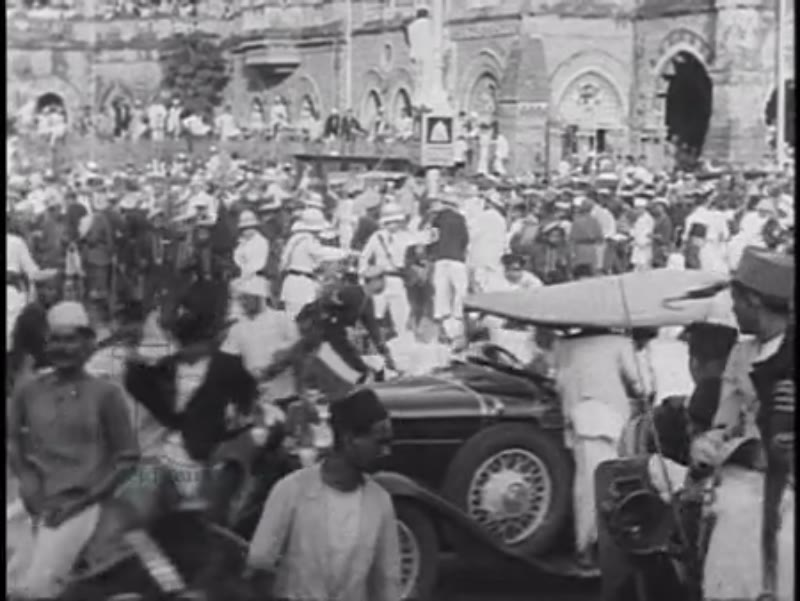 British and Indian Police clash with Gandhi followers against British rule in India, 1930s