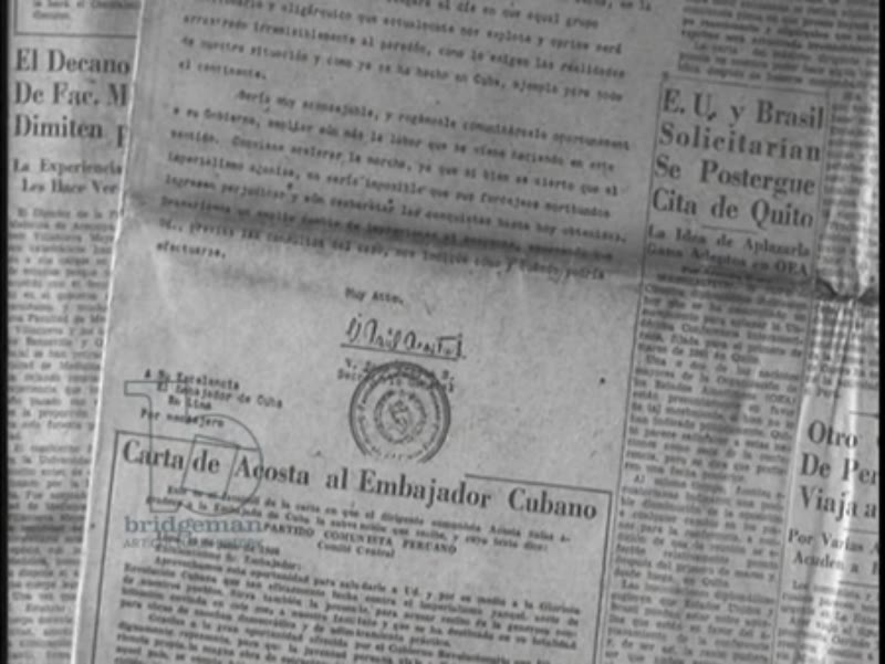 la Prensa newspaper headlines, Cuba distributes anti-government subversive propaganda in Peru, 1959, Cuban Revolution