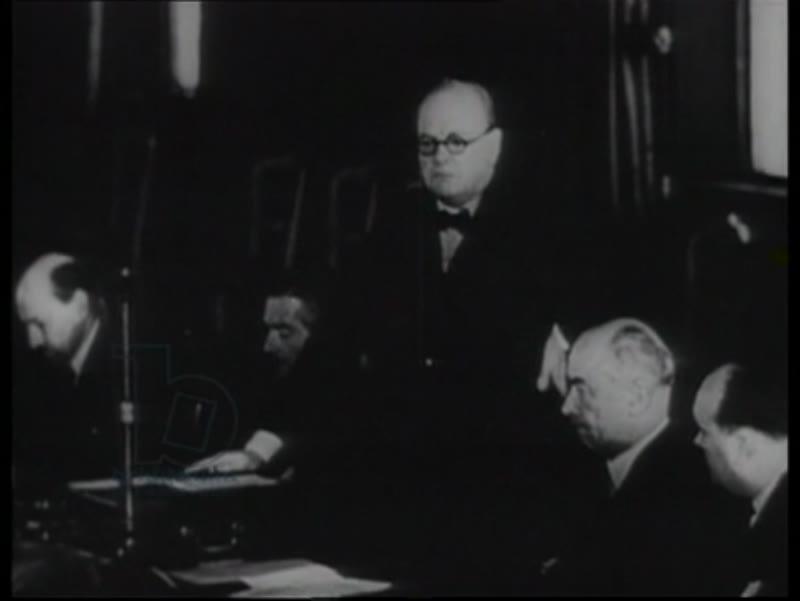 Britain reacts to the invasion of Poland, Neville Chamberlain, Winston Churchill, King George VI, conscription in UK, training, devastation in Poland