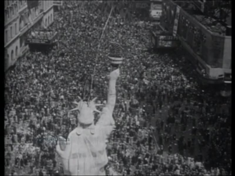 London and New York celebrate V-E Day, 8th May 1945