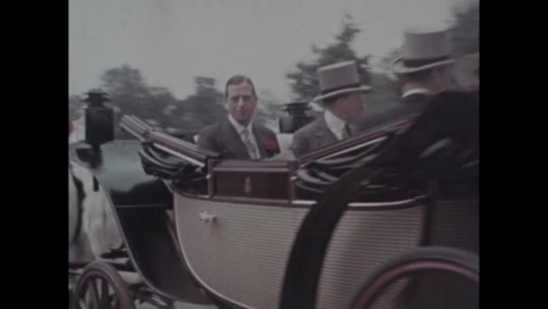 King George VI arrives at Ascot, horse race, England, 1938