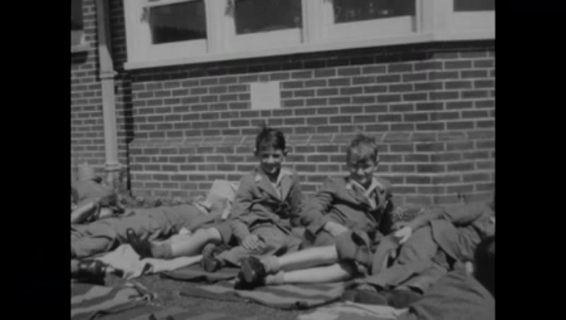 Afternoon rest for schoolboys of St Peter's School in Seaford, England, c.1939