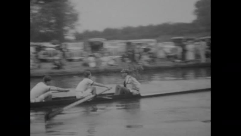 Rowing at Cambridge (possibly bumps racing), England, 30s or 40s