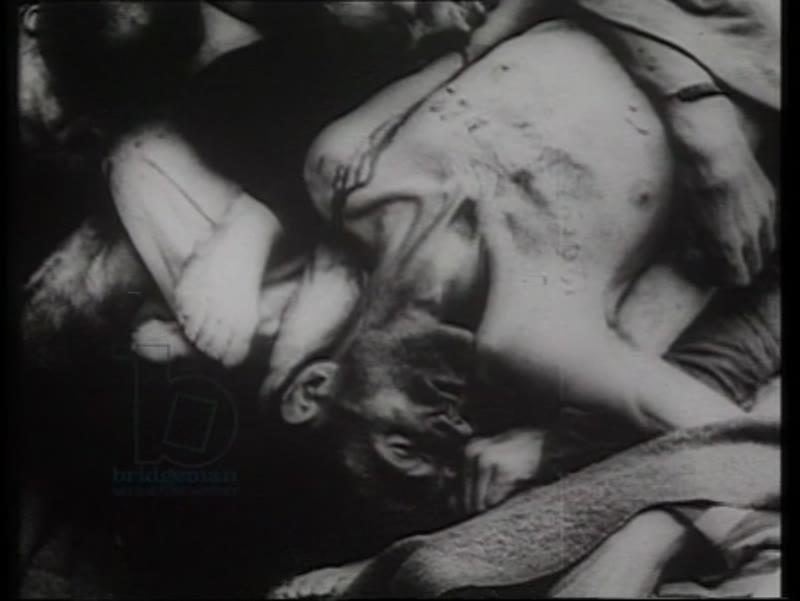 Bodies found at Auschwitz, Poland, 1945