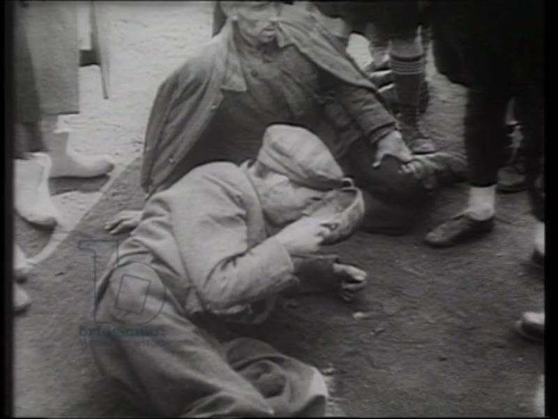 Auschwitz survivors at the point of liberation, 1945, Poland