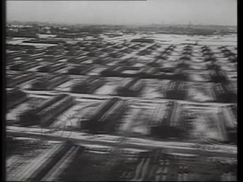 Aerial footage of Auschwitz, Poland, 1944