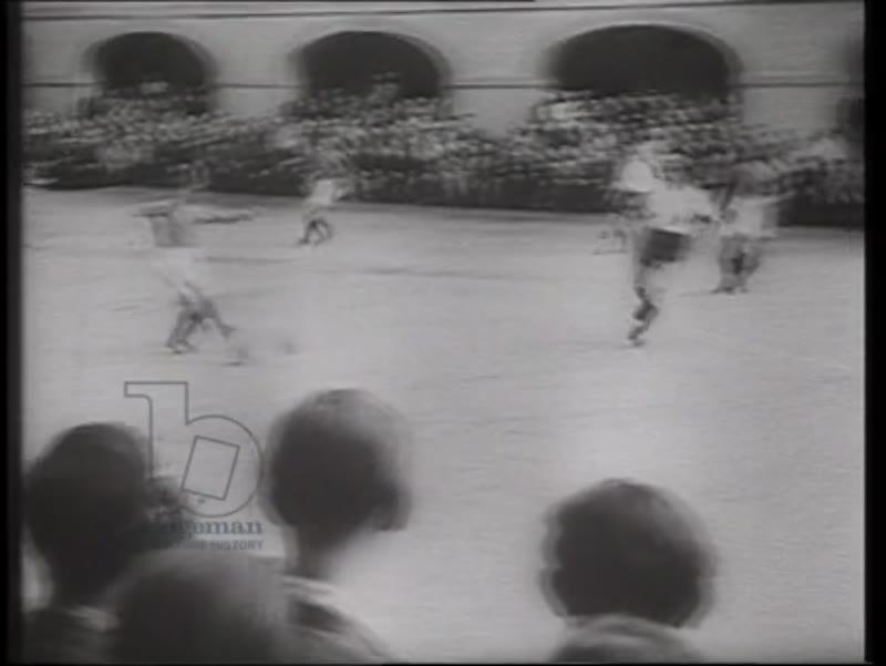 Nazi propaganda film showing a Jewish football match at Theresienstadt, 1944
