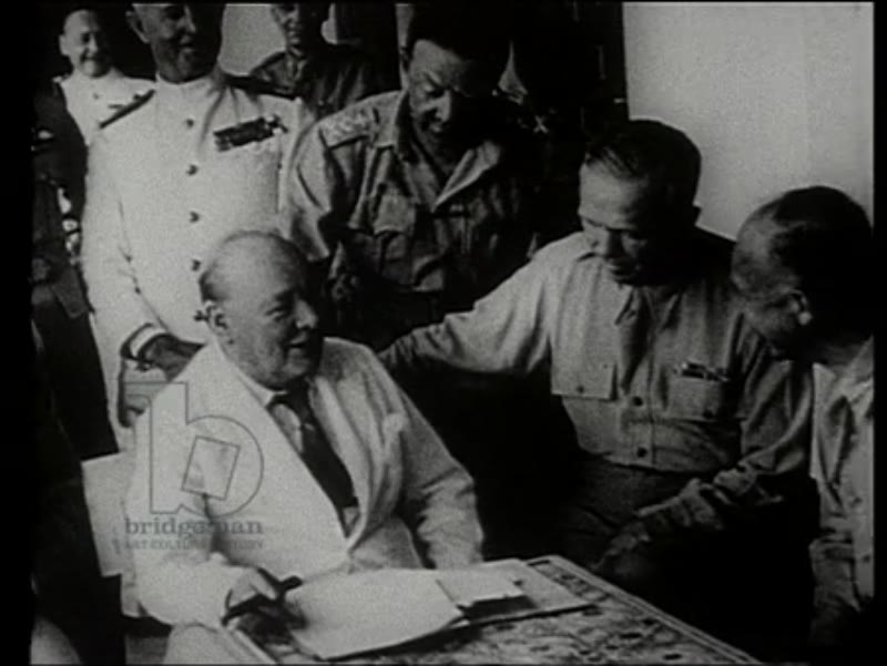 Tribute film for Sir Winston Churchill - speeches and conferences, WWII