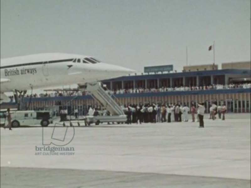 Supersonic Preview part 2 - Mexican dancers welcome the arrival of a Concorde plane. Crowds gather to admire the Concorde in various international airports. c.1976