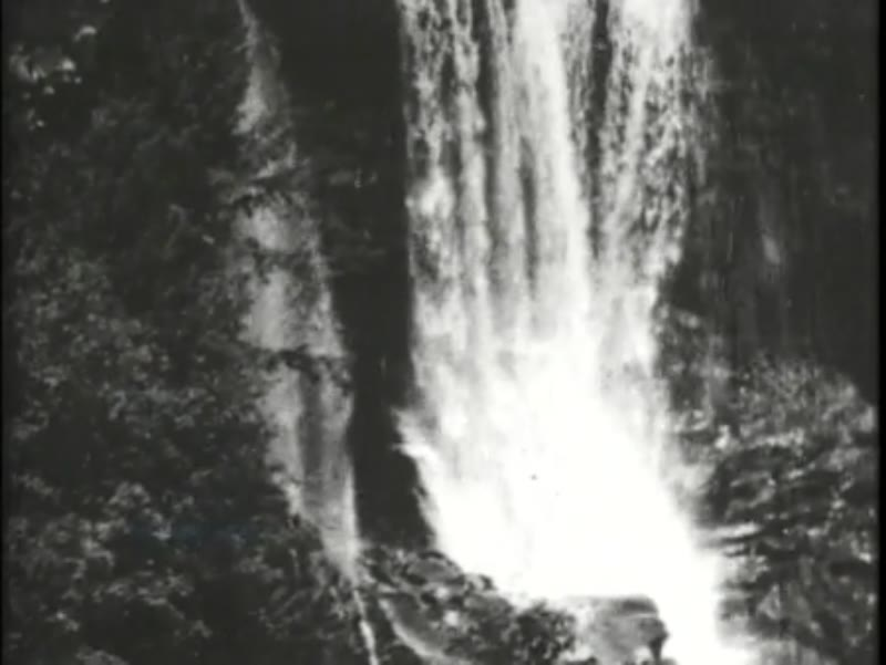 Waterfall in the Catskills, early Edison film, 1897