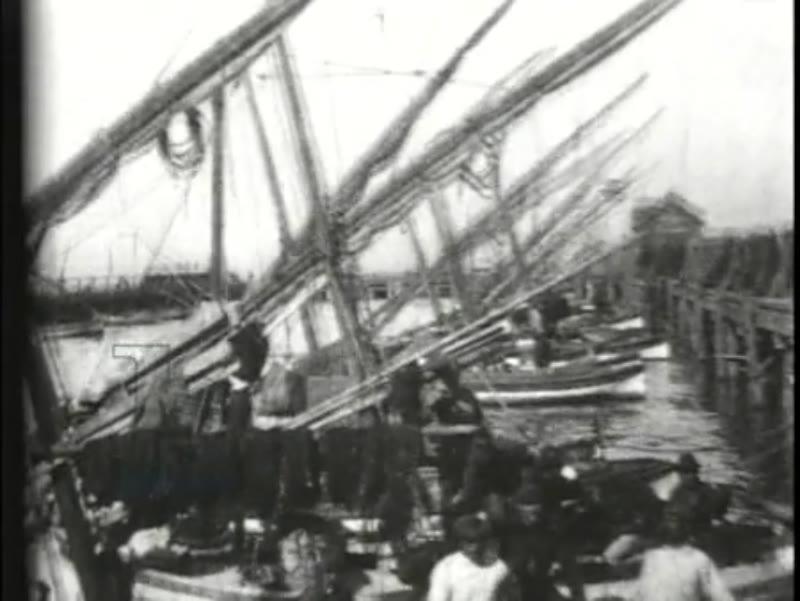 Fisherman's Wharf, early Edison film, 1897