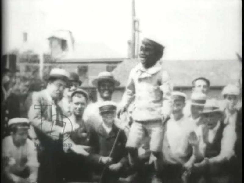 Dancing African-American boy, early Edison film, 1897