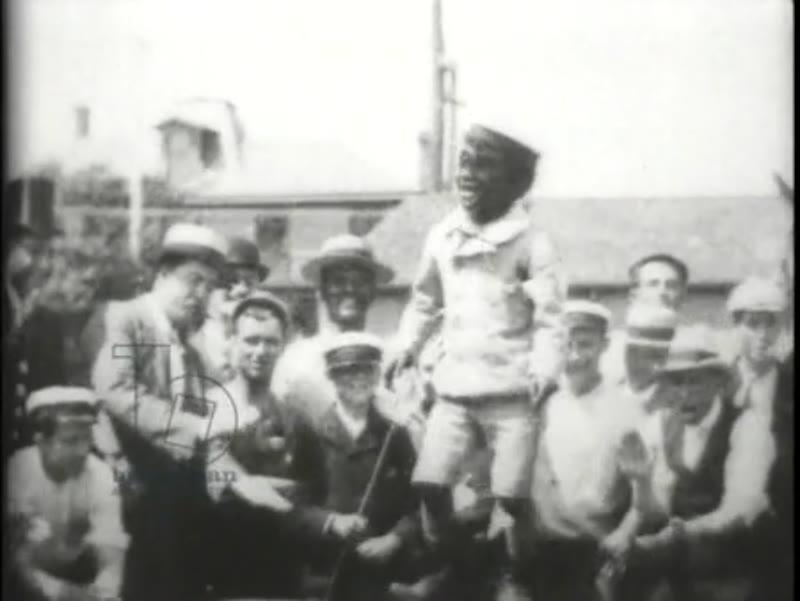 Dancing African-American boy, early Edison film, 1897