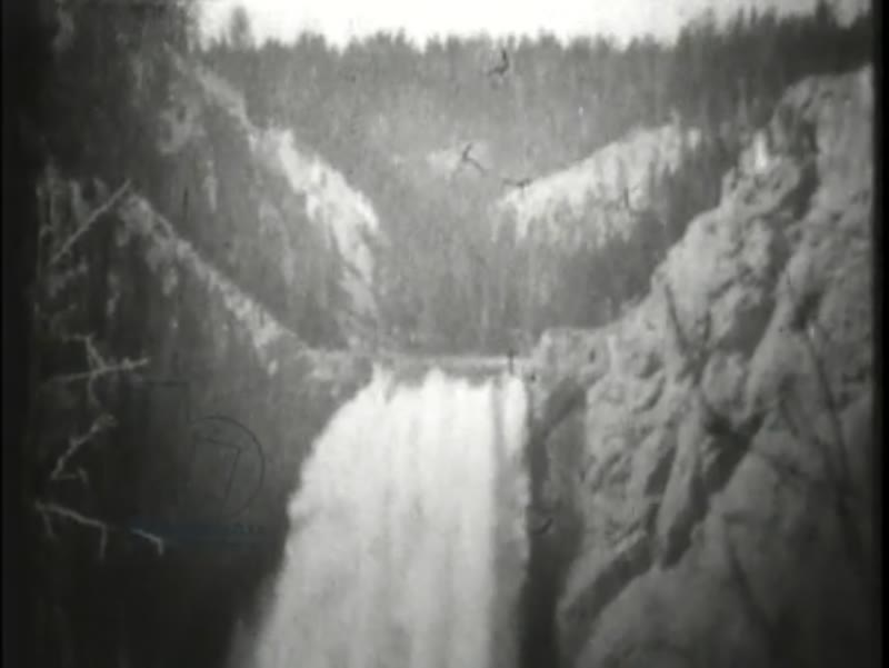 Lower Falls, Grand Canyon, Yellowstone Park, early Edison film, 1899