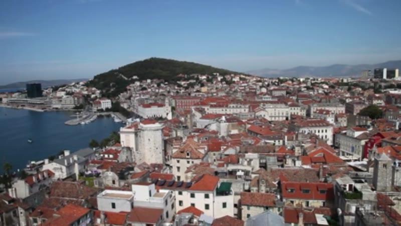 View of the city in Split, Croatia