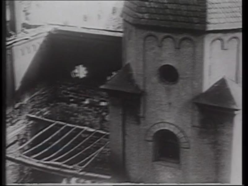 Kristallnacht, 9th November 1938 - smashing windows, Dresden's Semper Synagogue is destroyed.