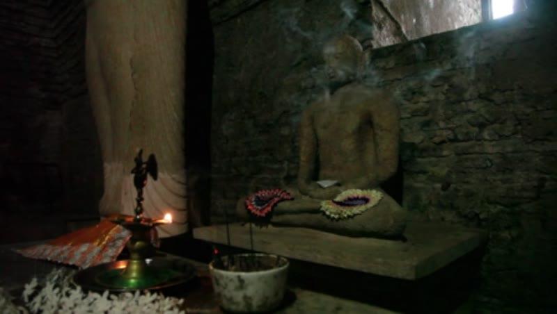 Buddha inside the Thuparama at Polonnaruwa in Sri Lanka 1