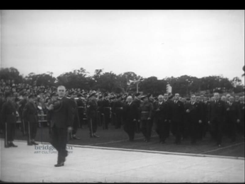 Anzac Day 25th April 1948 at the Australian War Memorial with Vivien Leigh and Laurence Oliver present.