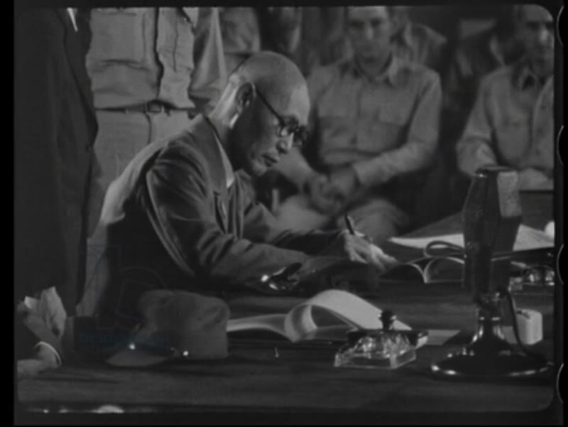 Signing of the Japanese surrender in Korea 1945
