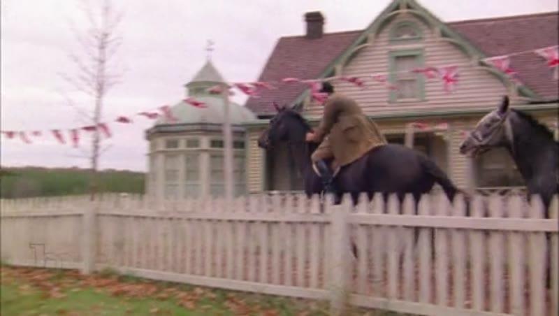Horse race through old town, 1908 - reenactment.