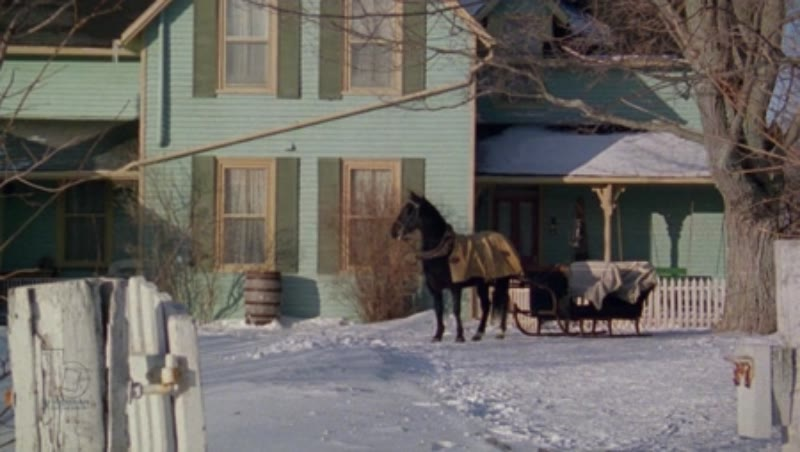 A country home in the countryside in the snow, 1908 - reenactment, clip 4