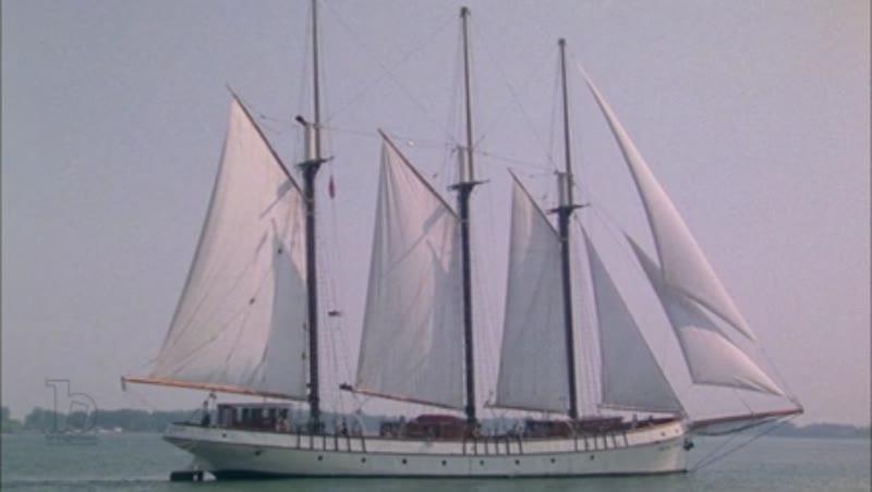 Ship sailing in the ocean