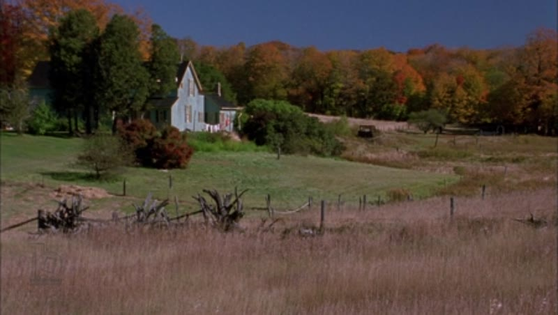 Static shot of a country house, clip 5