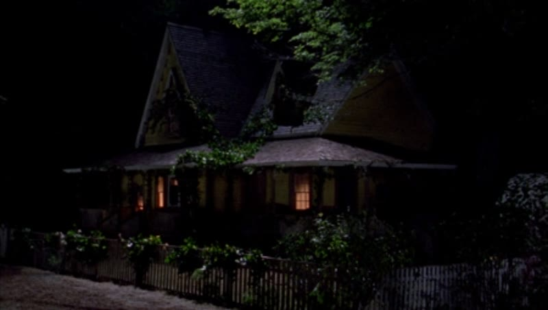 Static shot of a country home in the countryside by night, clip 4