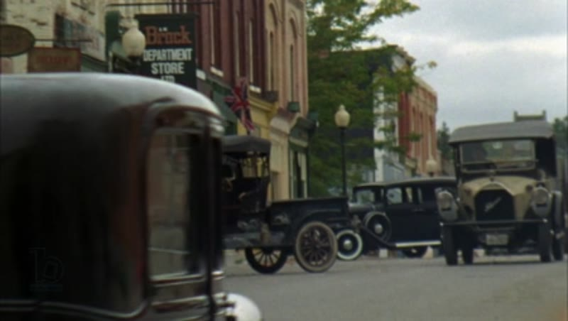 People in a busy town, 1930s - reenactment