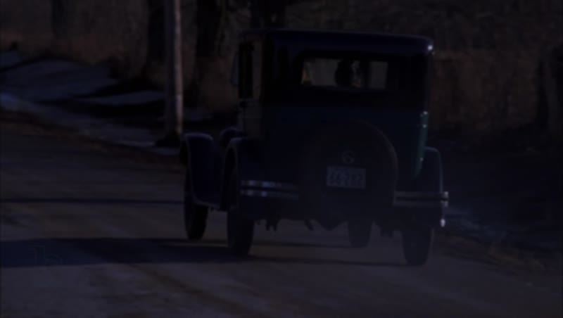 Car driving through the countryside, 1930s - reenactment, clip 13