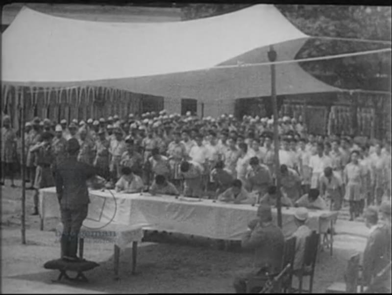 Japanese camp (training or POW), South East Asia, c.1942