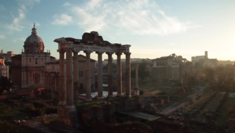 Static shot of the Roman Forum. Rome, Italy