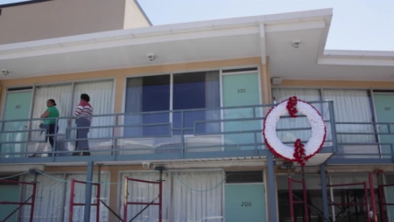 View of the balcony of Lorraine Motel where Martin Luther King, Jr. was assassinated. Memphis, Tennessee