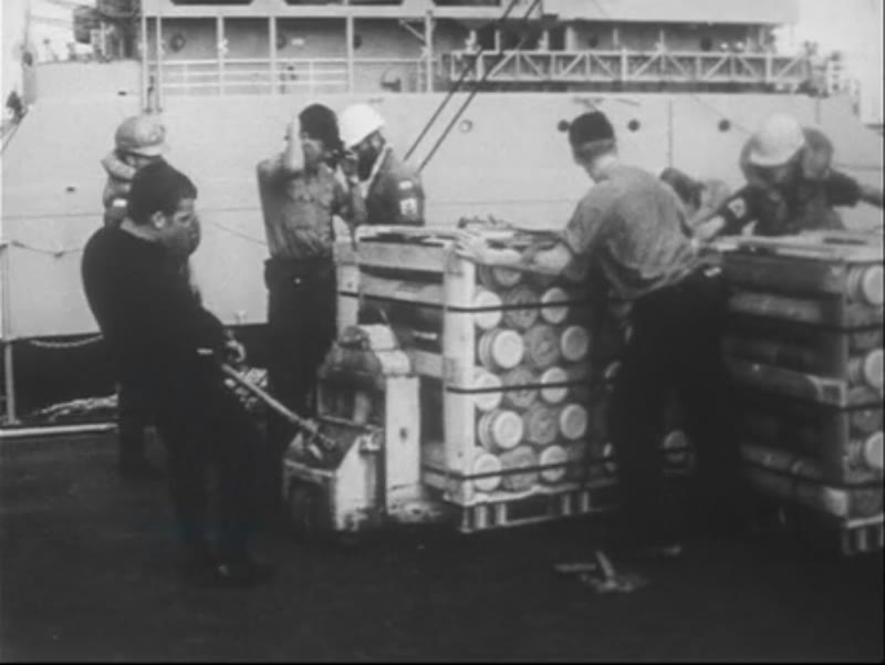 Games and exercise on board HMAS Perth. Operations and ammunition supplies. Vietnam, 1968