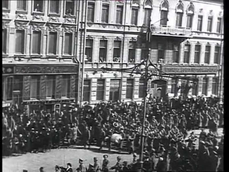 Pacifist demonstration during the February Revolution, Russia, 1917