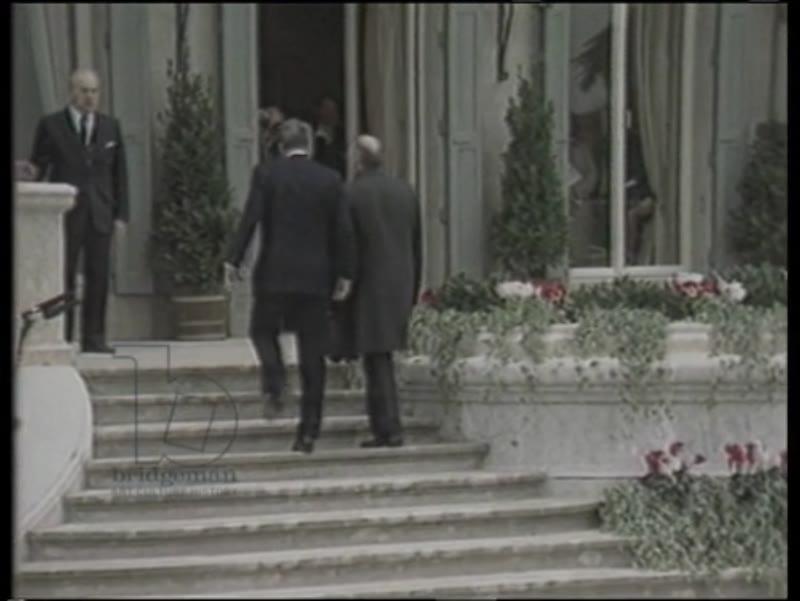 US President Reagan meets Soviet leader Gorbachov in Geneva, 19th November 1985