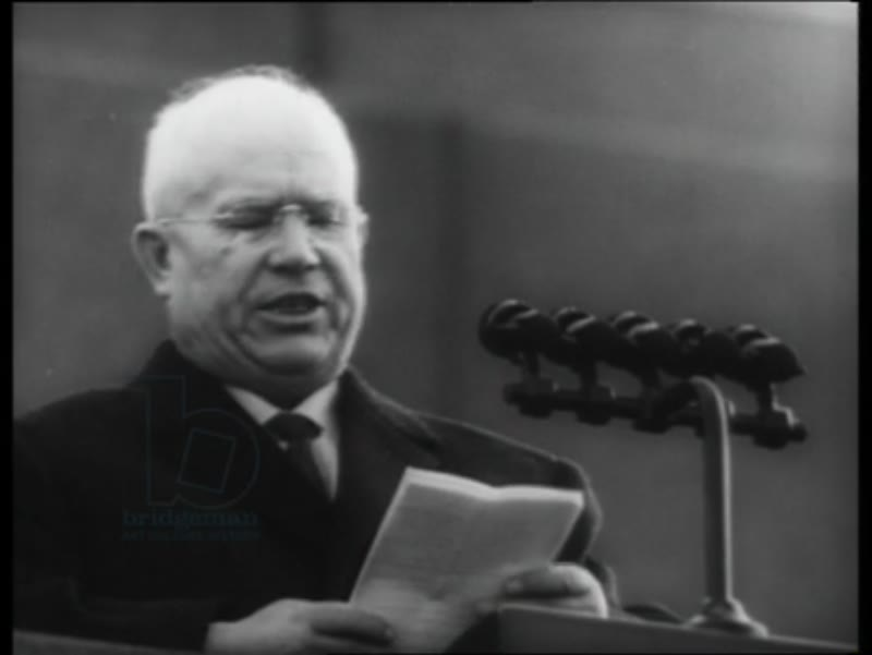 Fidel Castro visits Moscow in 1963, and Khrushchev gives speech in his honour