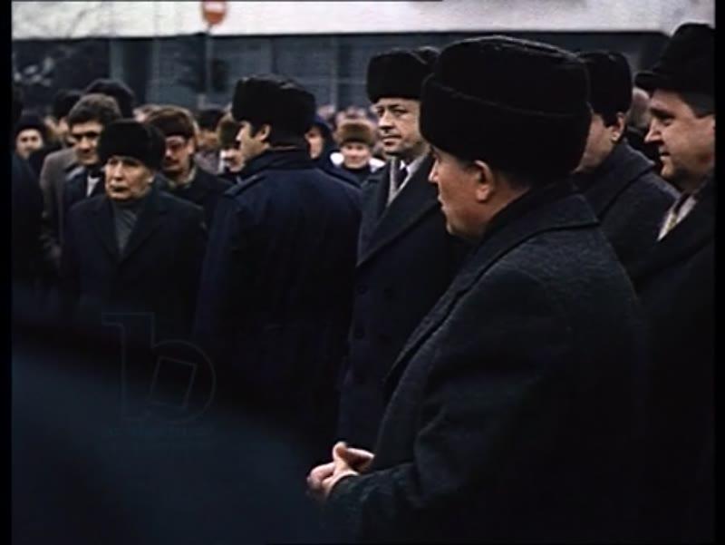 Mikhail Gorbachev's official visit to Latvia, 1980s - Ceremony and Perestroika speech