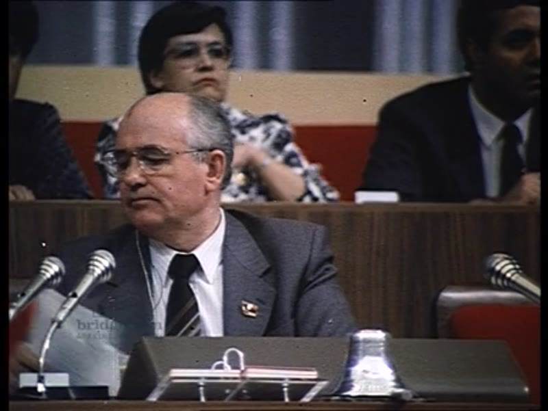 CPSU Party congress in Moscow - Part 1 - Gorbachev's speech and other interviews. 1980s-1990s