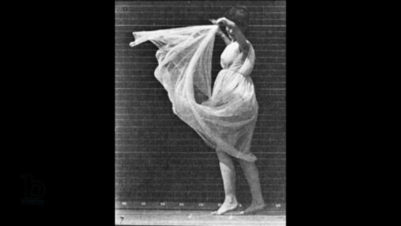 Animation of 'Dancing Woman', plate 187 from 'Animal Locomotion', 1887 Eadweard Muybridge