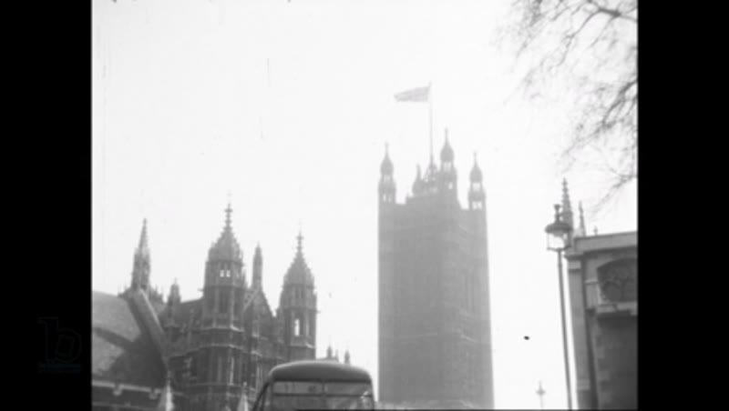 Westminster, London 1960s - Big Ben, Palace of Westminster; Whitehall and the Cenotaph (HD)