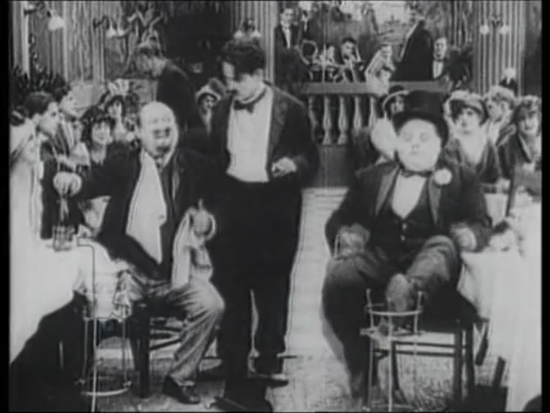 Scene from Charlie Chaplin movie, possibly 'The Rink' (1916)
