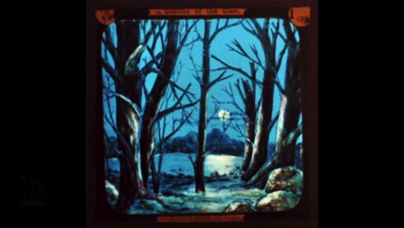 Animated 19th century magic lantern slide 'Goblins of the Glen'